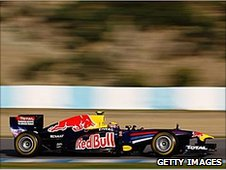 Mark Webber's Red Bull in Jerez