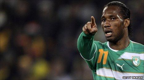 Ivory Coast captain Didier Drogba