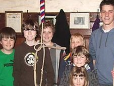 Young bellringers at Emmanuel Church Plymouth