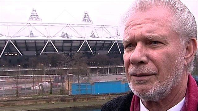 West Ham's David Gold at the 2012 Olympic Stadium