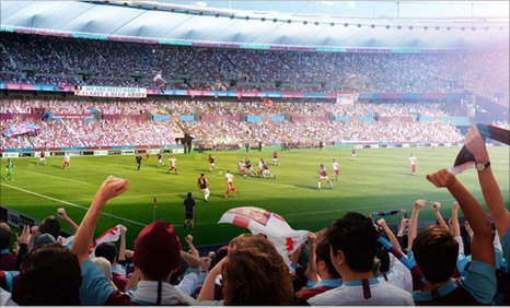 West Ham's impression of the how the Olympic Stadium will look