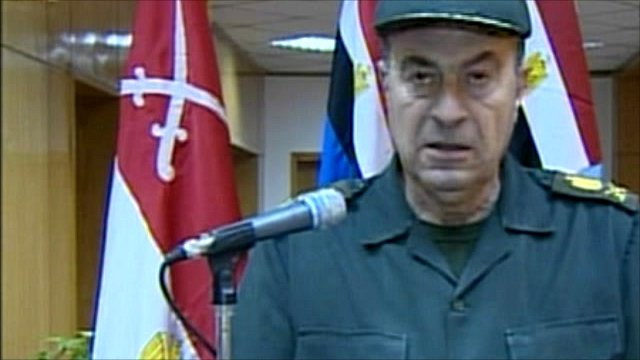 A military spokesman on state TV 