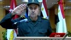 Still from TV footage of military spokesman making a statement, Egypt, 11 February 2011