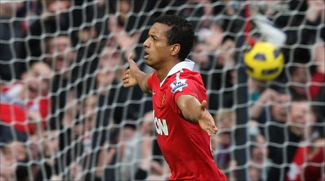 Nani scores for Manchester United