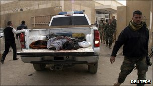 Victims of the attack were taken to the morgue at Samarra's hospital