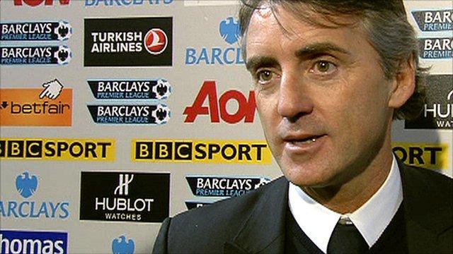 Man City manager Roberto Mancini