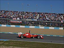 Ferrari's Fernando Alonso at Jerez