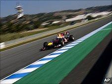 Sebastian Vettel in the Red Bull