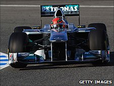Michael Schumacher's Mercedes at Jerez