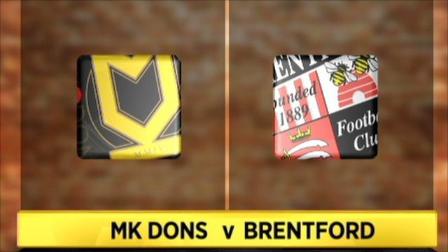 MK Dons 1-1 Brentford