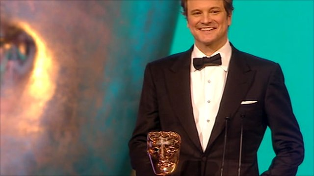 Colin Firth receives his Bafta