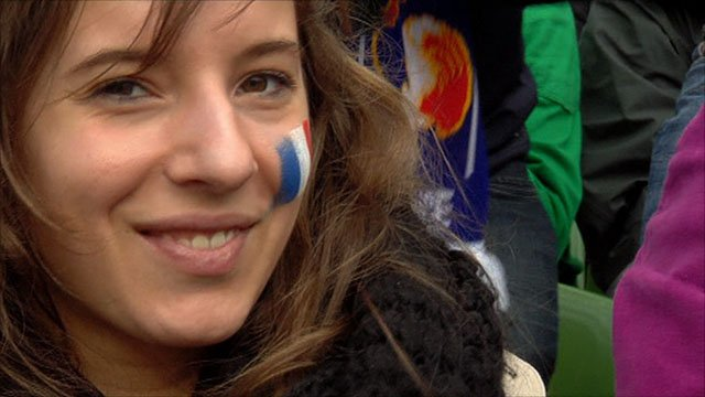A happy France fan