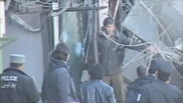 Scene of suicide bombing in Kabul