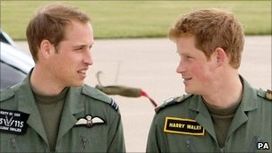 Princes Harry and William