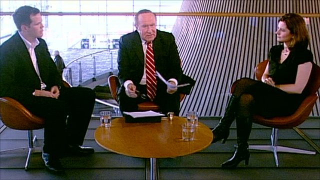 Lee Waters, Andrew Neil and Rachel Banner