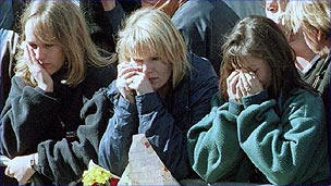 Mourners at Diana&#039;s funeral