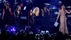 (L-R) Singers Yolanda Adams, Martina McBride, Christina Aguilera, Jennifer Hudson and Florence Welch