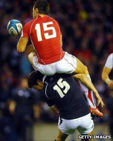 Hugo Southwell was injured making a rash challenge on Lee Byrne