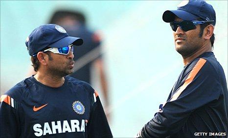 Sachin Tendulkar and Mahendra Dhoni