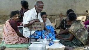 Displaced Tamil refugees