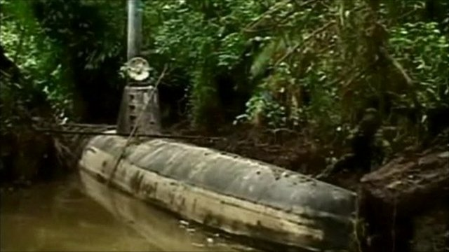 Submarine in Colombia