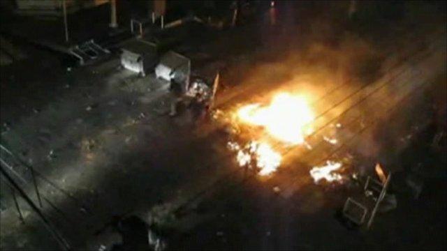 Riot police in Tehran