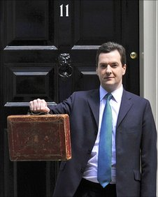 George Osborne outside 11 Downing Street