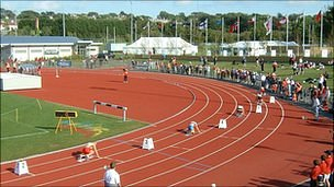 Athletics track at Footes Lane
