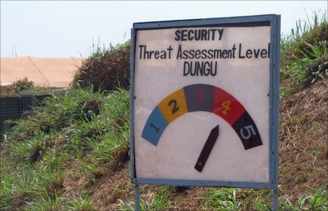 A security assessment meter in Dungu, north-east Congo