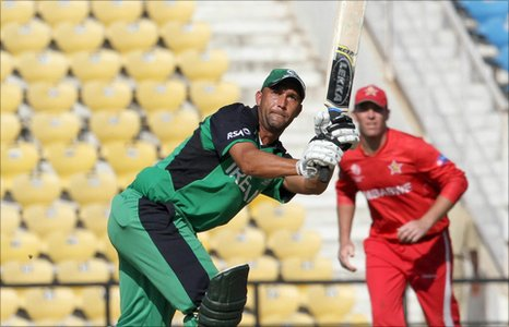Andre Botha on his way to compiling 79 against Zimbabwe in Nagpur