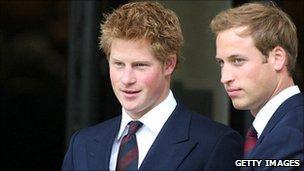 Princes Harry and William