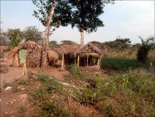 Deserted Congolese village