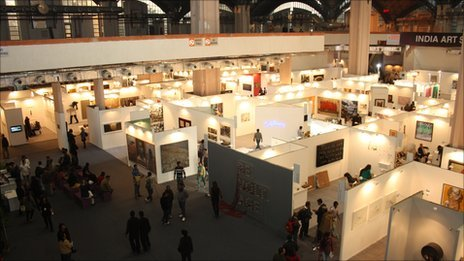 Indian art summit gallery booths