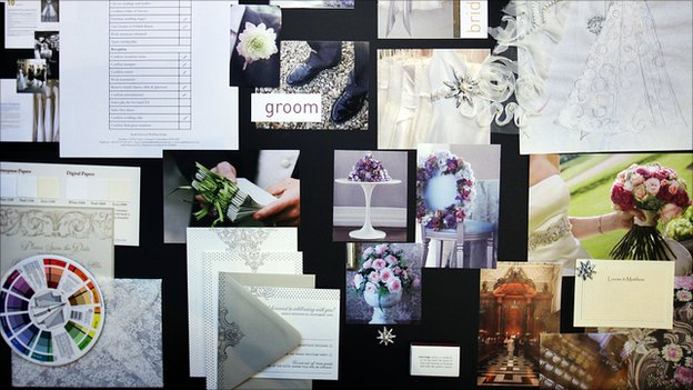 Wedding planner's mood board
