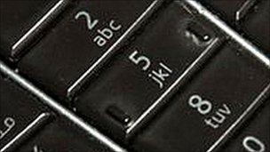 Mobile phone keys