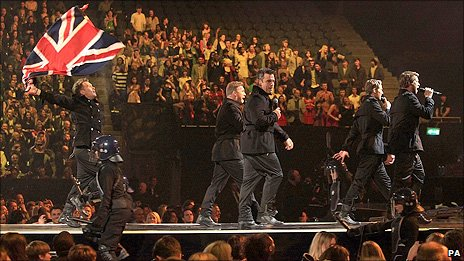 Take That perform at the Brits