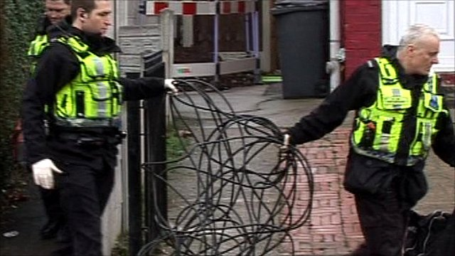 Police with cable