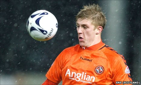 Dundee United striker Jordan Robertson