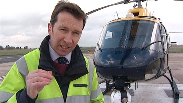 Alex Dunlop and the Norfolk Police helicopter