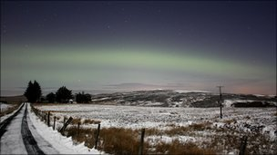 Picture of Aurora Borealis taken by Martin McKenna.