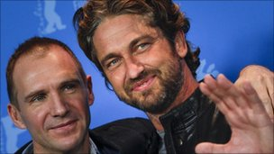 Gerard Butler with Ralph Fiennes at the Berlin Film Festival