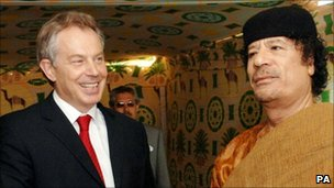Muammar Gaddafi and Tony Blair - 29 May 2007