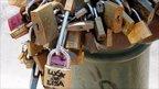Multiple padlocks locked together