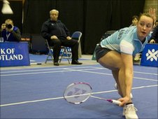 Badminton player Susan Egelstaff