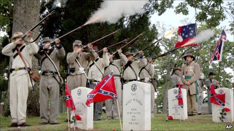 Sons of Confederate Veterans at a memorial service in 2006 in Fort Smith, Arkansas