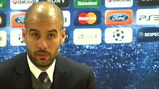 Barcelona manager Pep Guardiola