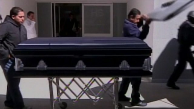 Coffin of US agent killed in Mexico