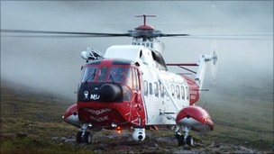 Stornoway based coastguard helicopter