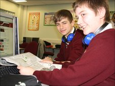 Robert and William from St Aidan's CE Technology College