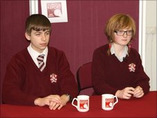 School Reporters Robert and Emma from St Aidan's CE Technology College